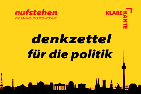 Gelbe Karte für die Politik